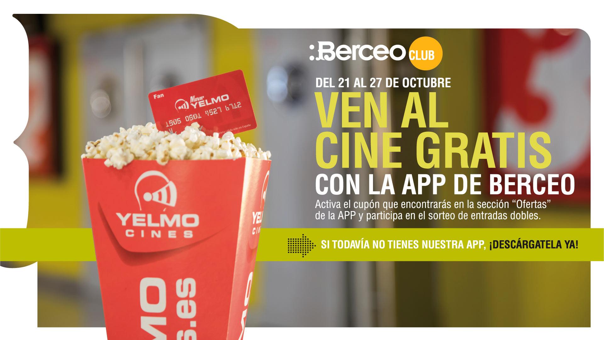 ¡TE INVITAMOS AL CINE CON LA APP DE BERCEO!
